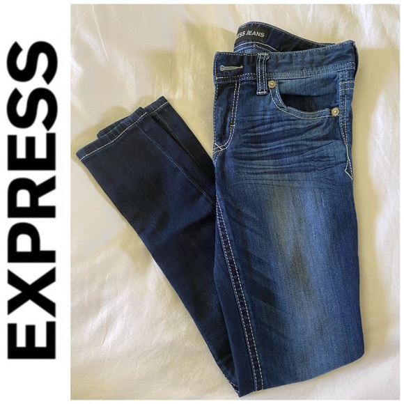 🎉HP🎉Express Med/Dark Wash Skinny Legging Jeans 6
